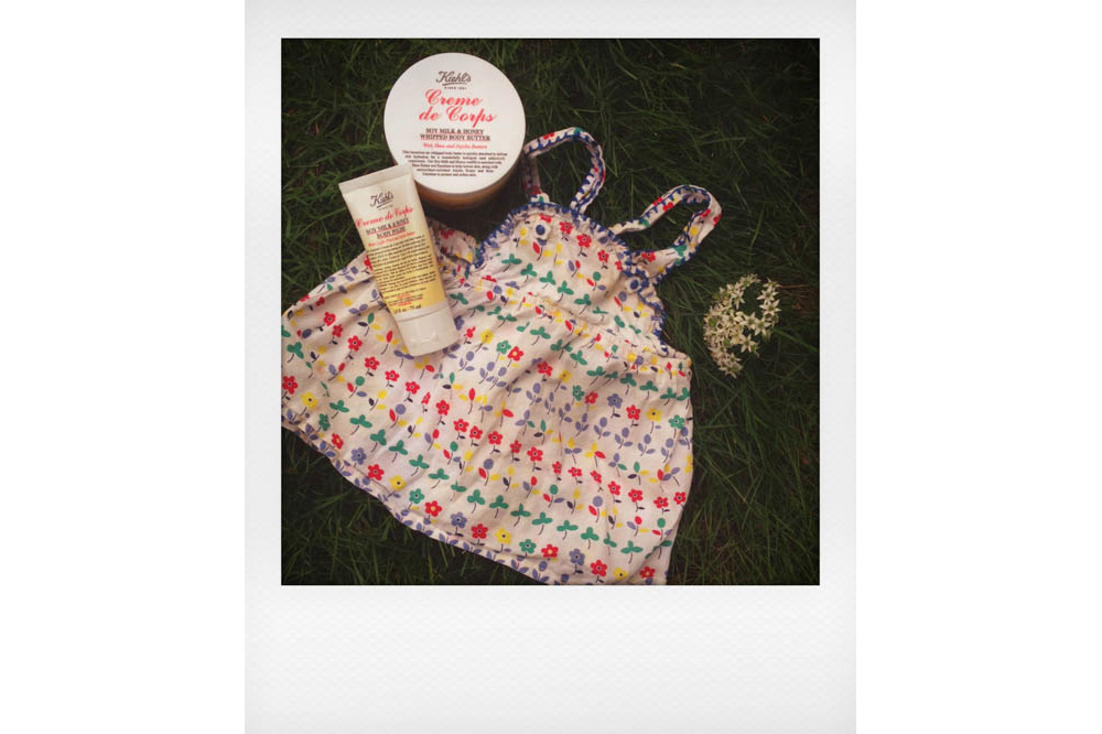 Stella McCartney Dress, Kiehl's Body Butter, Kiehl's Body Polish