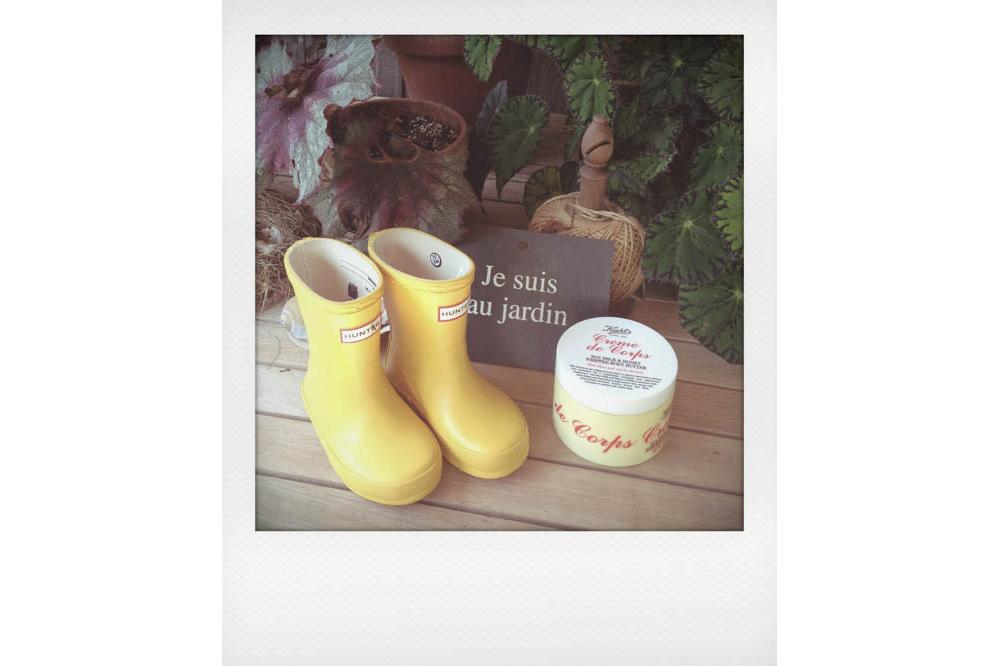 Hunter kid's boots, Kiehl's Creme de Corps