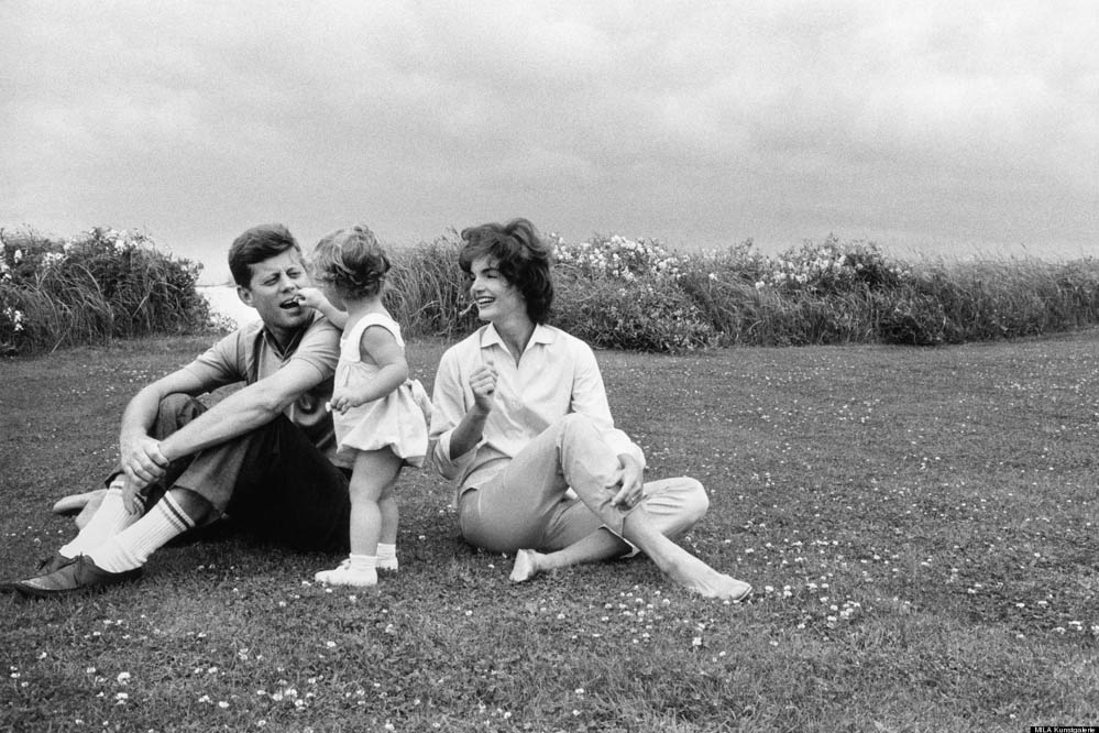 John F. Kennedy, Caroline Kennedy and Jacqueline Kennedy at Hyannis by Mark Shaw