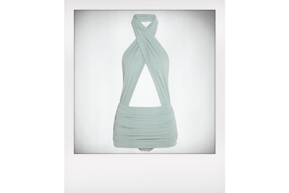 Norma Kamali Mio Ruched swimsuit, $350